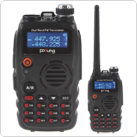 Portable POFUNG UV-A52 VHF / UHF 136-174 / 400-520MHz Two Way Radio with LCD Screen + 128 Channels