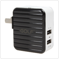 Portable 2.4A / 1A Dual USB Port Universal Charger for iPhone / for iPad / for Samsung / for HTC