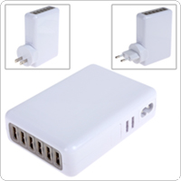 5V 4A 6 Ports USB AC Power Adapter with EU / UK / AU /  US Plug for MP3 / MP4 / iPhone / iPad / HTC / Samsung / Tablet