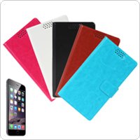Ultra Slim Flip Folio Wallet Style Leather Case with Built-in Card Holder Slot for iPhone 6 Plus 5.5 Inch Smartphone