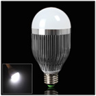 E27 9W Pure White LED Ball Light with Low Energy Consumption
