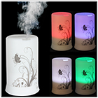 100ML 4 LED Colors & 4 Timing Modes Ultrasonic Aroma Vibration Diffuser & Air Humidifier - Dandelion