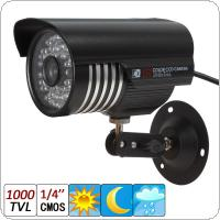 "1000TVL 1/4"" CMOS 6mm Lens 36-IR LED Waterproof Bullet Security Camera with IR CUT"
