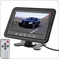 7 Inch TFT LCD Stand-alone Car Headrest Monitor with Built-in TR Transmitter Supports DVD / VCR / Camera / GPS