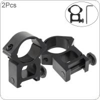 2pcs 25mm 1 Inch Ring Weaver / Picatinny Scope Rail Mount for Flashlight 20mm