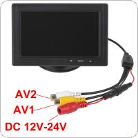 4.3 Inch 480 x 272 Color TFT LCD Screen 2-Channel Video Input Car Rear View Monitors + E306 18mm Color CMOS / CCD Car Camera