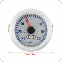 "2"" 52mm 0~30in.Hg / 0~20PSI Auto Car Turbo Boost Gauge Meter"