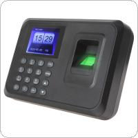 "A6 2.4"" TFT Biometric Fingerprint Time Clock Recorder Attendance Employee Payroll Recorder"