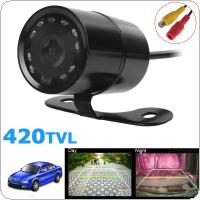 Universal PC1030 420TVL Night Vision Car Front View Camera 120 Degree Wide Angle Waterproof Auto Reversing Parking