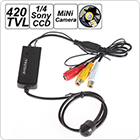Conical 420 TV Line Miniature Camera with 1/4 CCD Sensor