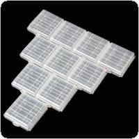 10PCS Hard Plastic Battery Case Holder Storage Box for AA AAA   Battery