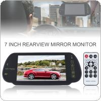 7 Inch TFT LCD Color Screen Car Rear View Mirror Monitor Support SD / USB