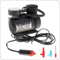 Portable 12V 300PSI Electric Pump Air Compressor Tire Inflator for Motorcycles / Electromobile / Canoeing