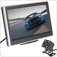 5 Inch 480 x 272 Pixel TFT LCD Color Car Rear View Monitor + 420 TV Lines 170 Degrees Lens Night Vision Camera