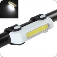 White Light USB Rechargeable Tail Light 4 Modes 120 Lumen Front / Rear Bike Safety Light Pack for Travel / Cycling