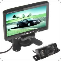 7 Inch TFT LCD Color Car Rear View DVD VCR Monitor + 7 IR LED Lights Car Rear View Camera
