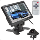 7 Inch TFT LCD Color Screen 2-CH Video Input Headrest Car Rear View Monitor DVD VCR Monitor + E335 170 Degree Embedded Night Vision Car Rear View Camera
