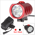 2600LM 3 x XML U2 LED Rechargeable Headlamp with Battery Pack