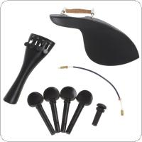 1 Set Ebony Wood 4/4 Violin Parts Accessories Set