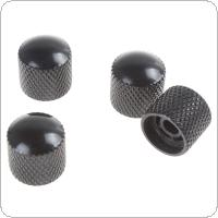 4pcs Black Metal Dome Tone Volume Knob for Electric Guitar