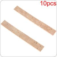 10pcs Natural Clarinet Neck Cork Sheet 81 x 11 x 2mm