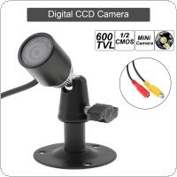 6mm HD 1280 x 960 600TVL 1/3 CMOS Mini Camera with 8 IR Lights for Night Vision