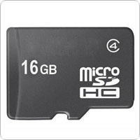 16GB Class 4 Micro SD / TF TransFlash Memory Card for Cell Phones / Tablets PC