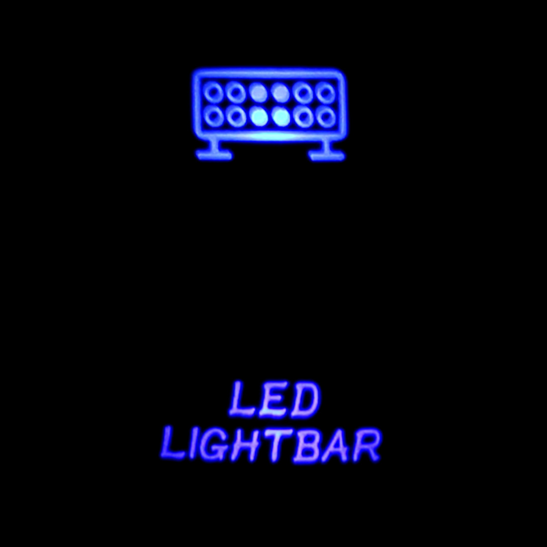 Dual Blue LED Backlit Laser Etched 3-Pin LED Light Bar Rocker Switch