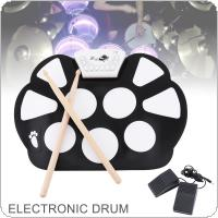KONIX W758 Digital Portable 9 Pad Musical Instrument Electronic Roll Up Drum Kit