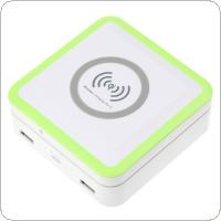 Qi Standard Wireless Charger Charging Pad for Sumsung S6 / S6 Edge + Solar Power Bank