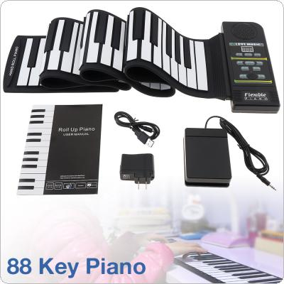KONIX PN88S 88Keys 128 Tones 100 Rhythms Electronic Flexible Roll Up Piano USB & MIDI Port with Speaker for Children