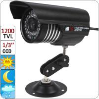 "1200 TVL 6mm Lens 36 IR LEDs IP66 Waterproof Night Vision Camera with 1/3"" CCD Sensor"