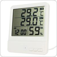 High-accuracy  LCD Digital Electronic Temperature Humidity Meter Thermometer Tester Clock Household for Indoor / Outdoor