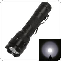 WF-502B LB-XL T6 LED 5 Modes Focus Black Telescopic Focusing Rechargeable Flashlight for Patrolling / Hiking / Camping