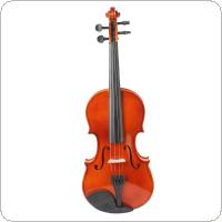 4 / 4 Full Size Natural Acoustic Violin Fiddle with Case & Bow & Rosin for Violin Beginner