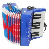 Mini Educational Musical Instrument 17-Key 8 Bass Toy Accordion for Kids Children