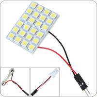 12V 5050 LED  24 SMD  White Light LED Car Reading Lamp Interior Panel Lamp with T10 Festoon Dome Adapter