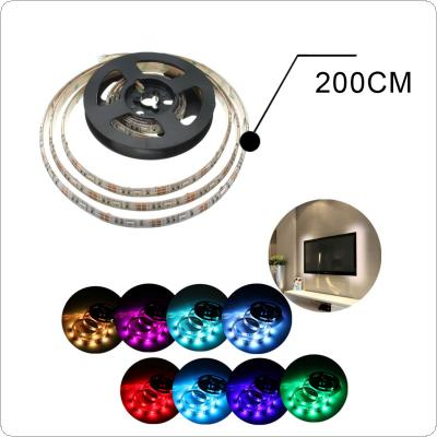 Waterproof 200cm/6.5feet Wall 60Leds 5050RGB USB Strip Light with Mini Controller Suit for Notebook PC TV