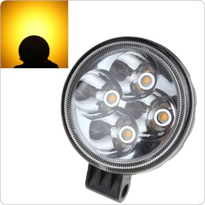 3 X 2 Inch Rounded 12W Yellow LED  Light Working Lamp for Automobile / SUV / Truck / Lorry / Motorcycle