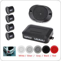 4 Sensors Buzzer Car Parking Sensor System with Audible Alarm / Waterproof, Back Car Assistant