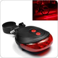 E SMARTER Waterproof 2 Laser + 5 LED Flashing 3Modes Lamp Tail Rear Cycling Safety Warning Light for Bicycle Bike