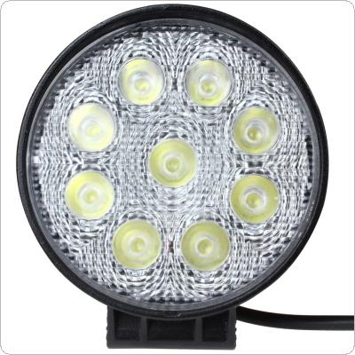 4 X 4 Inch 6500K 1600LM 27W Waterproof Roundness Shape LED Working Light for Truck / Forklift / SUV / Excavator / Sedan / Motorcycle