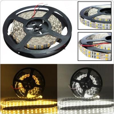 5m 5050 600 SMD LED Double Row Warm White / White Strip Light for Decorating