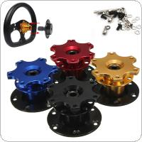70mm Car Steering Wheel Quick Release Hub 6 Holes Racing Adapter Snap off  Kit