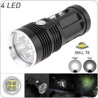 1200LM 4 x XML T6 LED Waterproof Outdoor 3-Mode Flashlight Torch Lamp for Hunting / Camping
