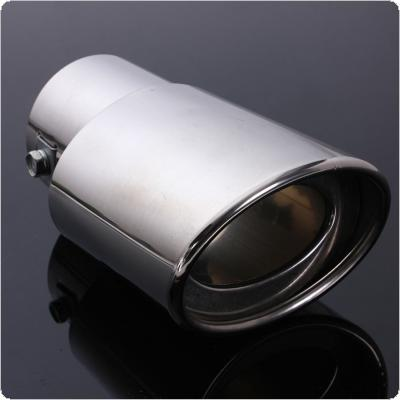Stainless Steel Car Tail Rear Chrome Round Exhaust Muffler Pipe Tip
