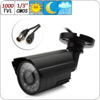 1000TVL 6mm Lens 1/3 CMOS Outdoor CCTV Security Camera IR Color Night Vision Waterproof