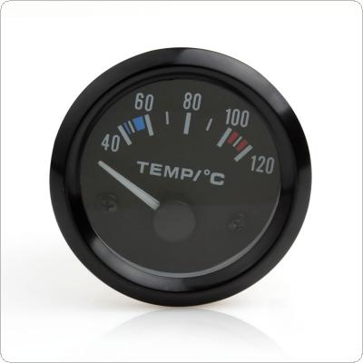 "2"" 52MM 12V 40~120? Universal White LED Electrical Car Water Temp Gauge Meter with Temperature Sensor"