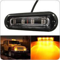 DC 12-24V 4 LED Waterproof Car Truck Strobe Flash Warning Light Side Maker Light Amber