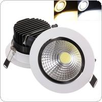 15W COB LED Non dimmable Recessed Ceiling Light Fixture Down Light Kit